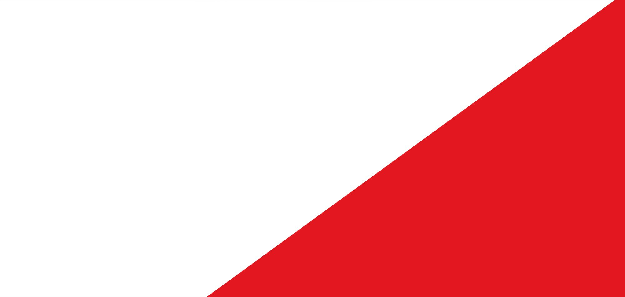 Background image: white and red colors split diagonally