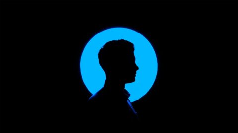 Silhouette of person's profile